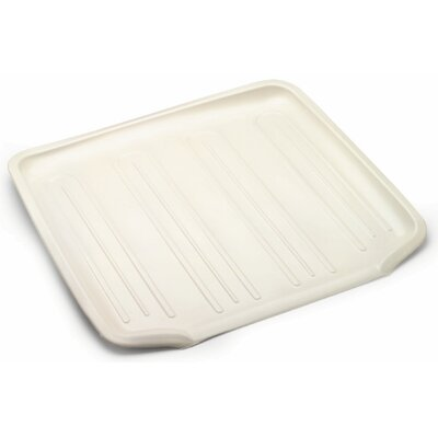 Dish Drainer Tray (Set of 6) Size: 1.03 H x 15.61 W x 14.38 D, Color: Bisque