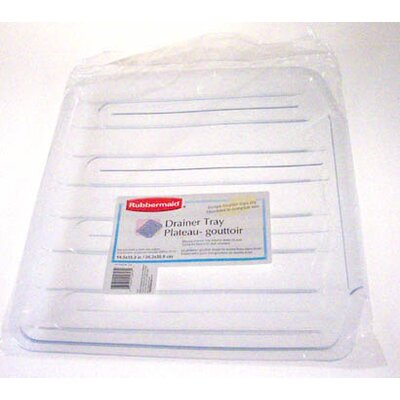 Dish Drainer Tray (Set of 6) Size: 1.03 H x 15.61 W x 14.38 D, Color: Clear