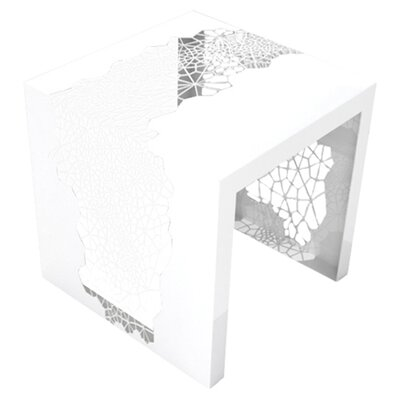 Hive End Table Color: Brilliant White