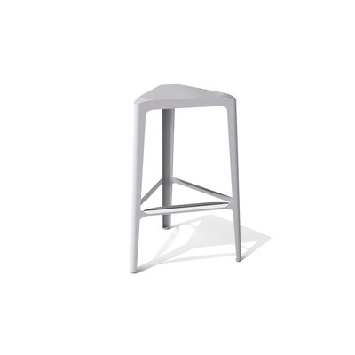 Clic 30 inch Bar Stool Finish: Stainless Steel with Satin, Upholstery: Aviator
