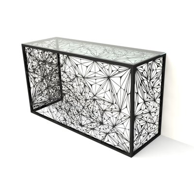 Nebula Console Table Finish: Jet Black