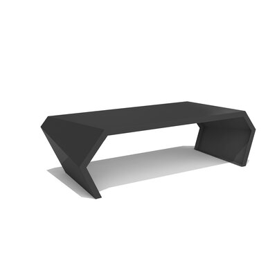 Pac Coffee Table Exterior/Interior Color: Jet Black