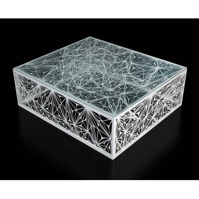 Nebula Coffee Table Size: 32, Color: White