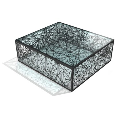 Nebula Coffee Table Size: 32, Color: Jet Black