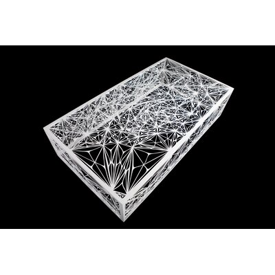 Nebula Coffee Table Size: 55, Finish: White