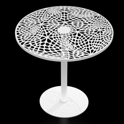 Coral Cafe Table Size: 29.5 H x 24 Diameter, Color: White