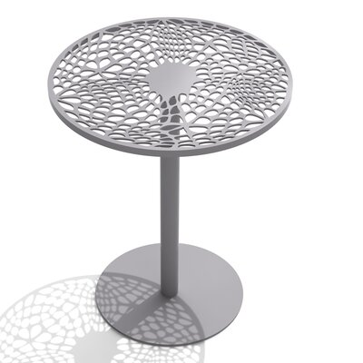 Coral Cafe Table Size: 22 H x 18 Diameter, Color: Grey