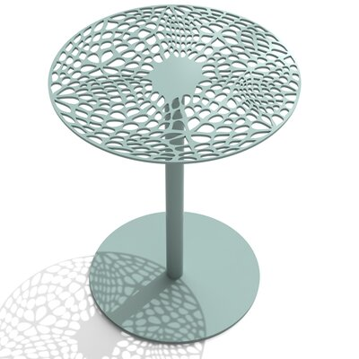 Coral Cafe Table Size: 29.5 H x 24 Diameter, Color: Sea Green