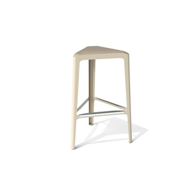 Clic 30 Bar Stool Color: Stainless Steel with Satin, Upholstery: Chilled Champagne Metallic