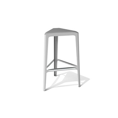 Clic 30 Bar Stool Finish: Stainless Steel with Satin, Upholstery: Silver Sand Metallic