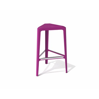 Clic 30 Bar Stool Finish: Stainless Steel with Satin, Upholstery: Wild Orchid