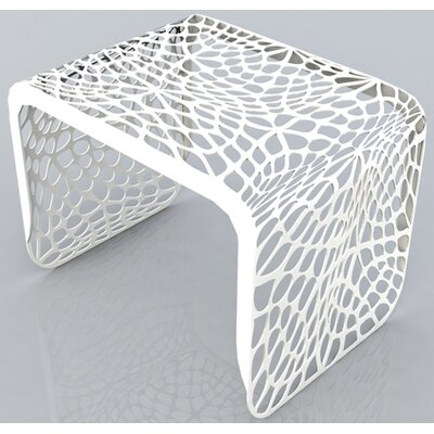 Coral End Table Finish: Brilliant White