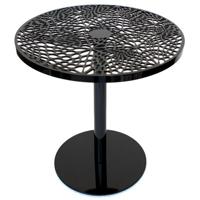 Coral Cafe Table Size: 29.5 H x 30 Diameter, Color: Black