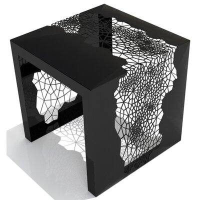 Hive End Table Color: Jet Black