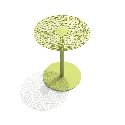Coral Cafe Table Size: 22 H x 18 Diameter, Color: Lush Green