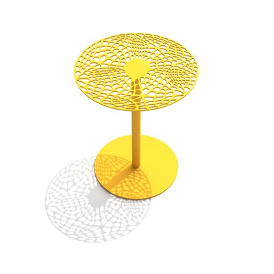Coral Cafe Table Size: 22 H x 18 Diameter, Color: Bright Sun