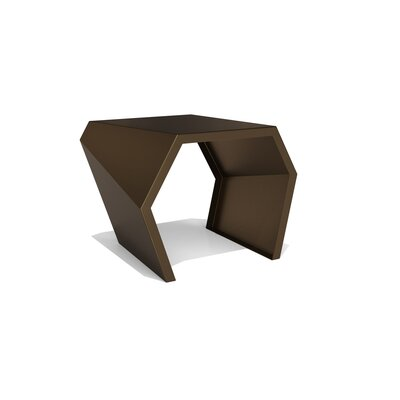 Pac End Table Color: Burnished Bronze