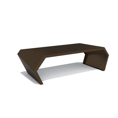 Pac Coffee Table Exterior/Interior Color: Burnished Bronze