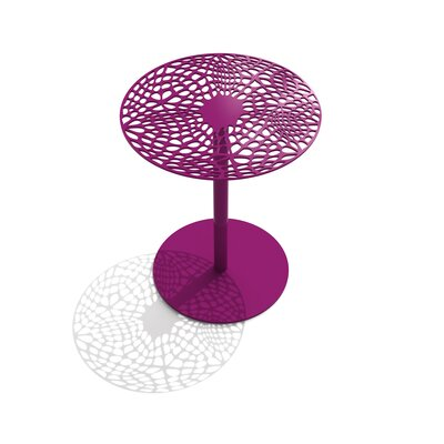 Coral Cafe Table Size: 29.5 H x 24 Diameter, Color: Wild Orchid