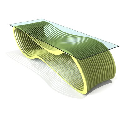 Loop Coffee Table Color: Lush Green