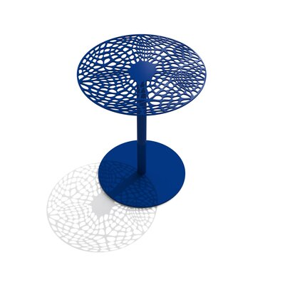 Coral Cafe Table Size: 29.5 H x 24 Diameter, Finish: Chilled Champagne