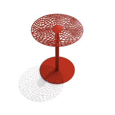 Coral Cafe Table Size: 22 H x 18 Diameter, Color: Spirit Red