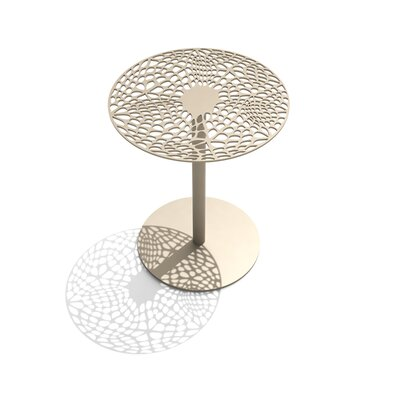 Coral Cafe Table Size: 29.5 H x 24 Diameter, Color: Chilled Champagne