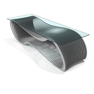 Loop Coffee Table Color: Silver Sand