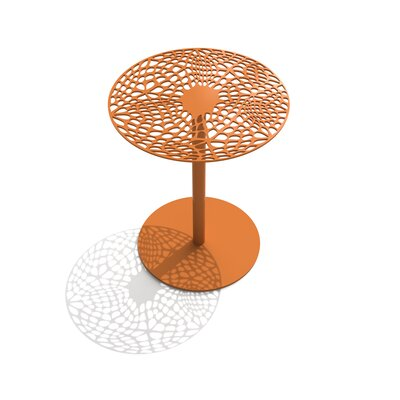 Coral Cafe Table Size: 29.5 H x 30 Diameter, Color: Salmon Sky