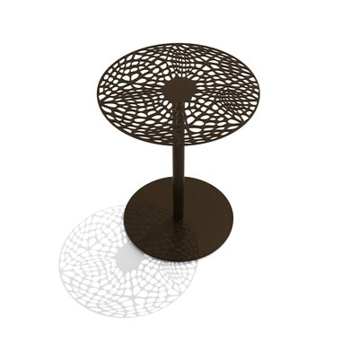 Coral Cafe Table Size: 29.5 H x 30 Diameter, Color: Burnished Bronze