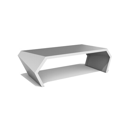 Pac Coffee Table Exterior/Interior Color: Silver Sand
