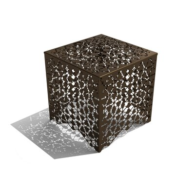 Ricami End Table Finish: Burnished Bronze