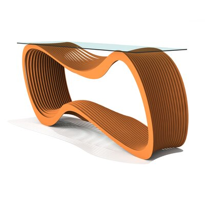 Loop Console Table Finish: Salmon Sky