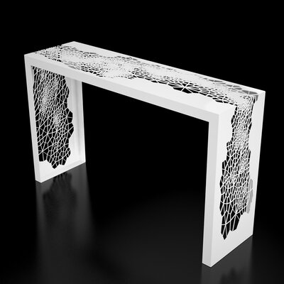 Hive Console Table Finish: Brilliant White