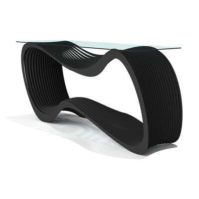 Loop Console Table Finish: Jet Black