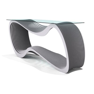 Loop Console Table Finish: Aviator Gray