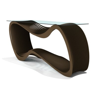 Loop Console Table Finish: Burnished Metallic Bronze