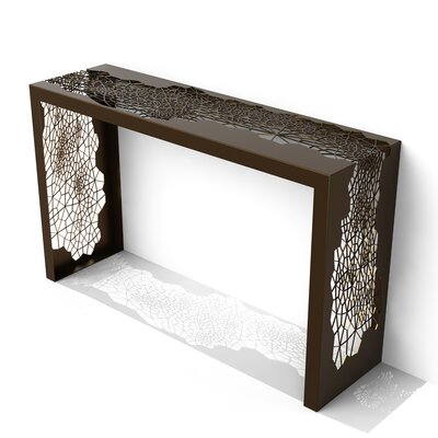 Hive Console Table Finish: Burnished Bronze