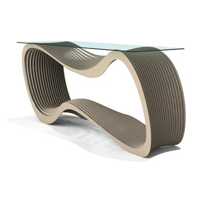 Loop Console Table Finish: Chilled Metallic Champagne