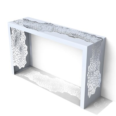 Hive Console Table Finish: Galcier Gray