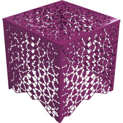 Ricami End Table Finish: Wild Orchid