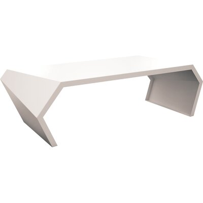Pac Coffee Table Exterior/Interior Color: Cream White