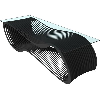Loop Coffee Table Color: Jet Black