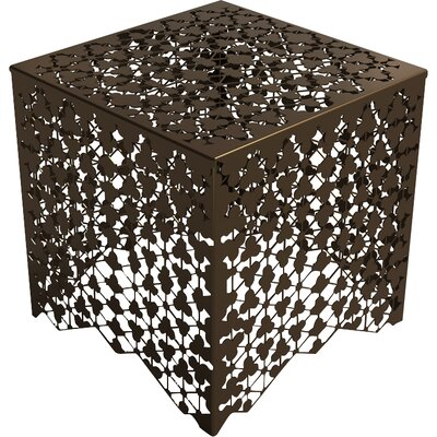 Ricami End Table Color: Burnished Bronze