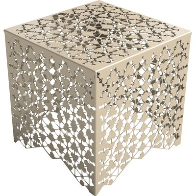 Ricami End Table Color: Chilled Champagne
