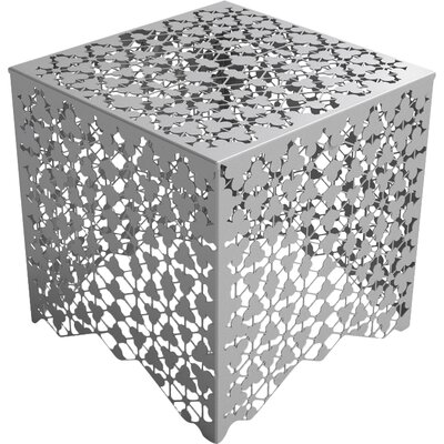 Ricami End Table Color: Silver Sands
