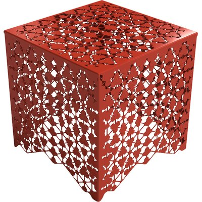 Ricami End Table Color: Spirit Red