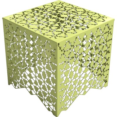 Ricami End Table Color: Lush Green