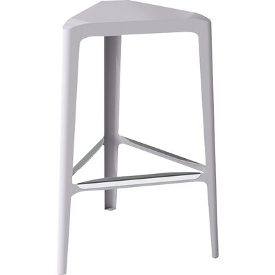 Clic 30 Bar Stool Finish: Stainless Steel with Satin, Upholstery: Aviator