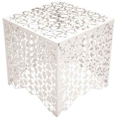Ricami End Table Color: Cream White